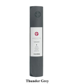 Thảm tập yoga TPE Manduka – welcOMe 5mm - Thunder Grey